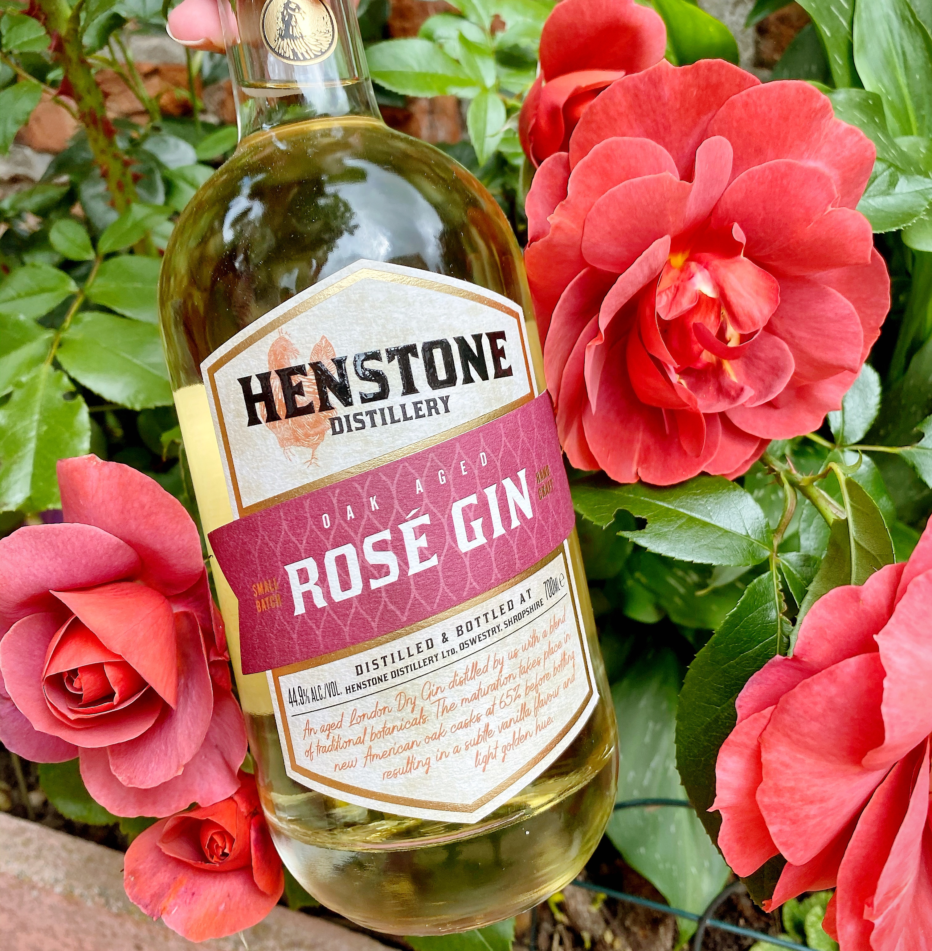 Gin Review:- Henstones Rosé Oak Aged Gin