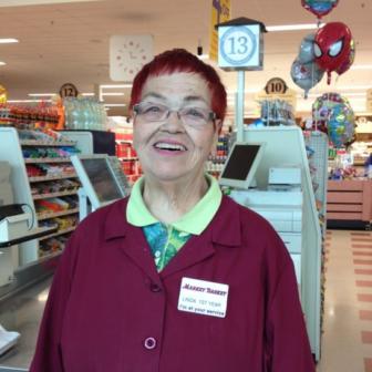 Linda Bates, Market Basket employee.