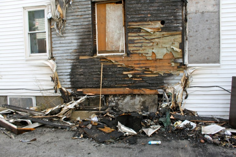 Aftermath of arson at 338 Merrimack Street on Sept. 2.