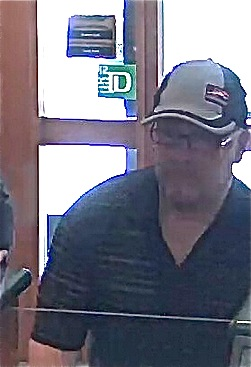 Bank robber from TD Bank surveillance footage, Sept. 2, 2014.