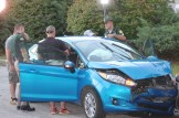 Detectives search the car involved in a high-speed chase on I-93, through Londonderry and back into Manchester.
