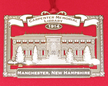 The 2014 Collectible Ornament this year features the Carpenter Memorial Library.