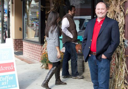 Cory Wallenstein, founder of Adored, a local customer appreciate rewards app.