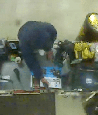 Police are looking for a robber who may be responsible for four back-to-back armed robberies on Saturday.