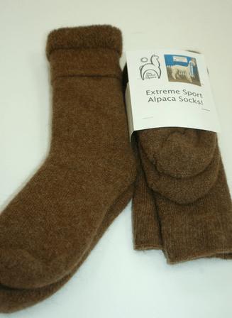 Extreme Alpaca Sport Socks from Hidden Hill Farm in Antrim, NH.