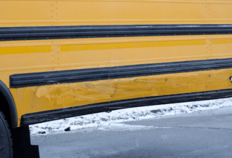 Southside school bus hit by truck on Elm Street Dec. 12.
