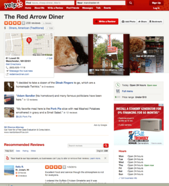 Red Arrow Diner gets some thumbs up AND down for being Adam Sandler's former hometown haunt.