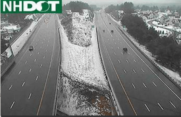 NH DOT Traffic cam view of 293 near Exit 1 at about 2 p.m.