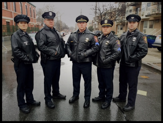 From left, Officers Shannon Jackson (former NYPD), Investigator Paul Fraitlz, Sgt. Mike Biron, Sgt. Brian Cosio and Officer Dan Wood.