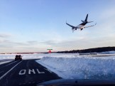 Coming in for a landing at Manchester-Boston Regional Airport.