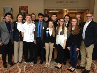 Manchester DECA student achievers.
