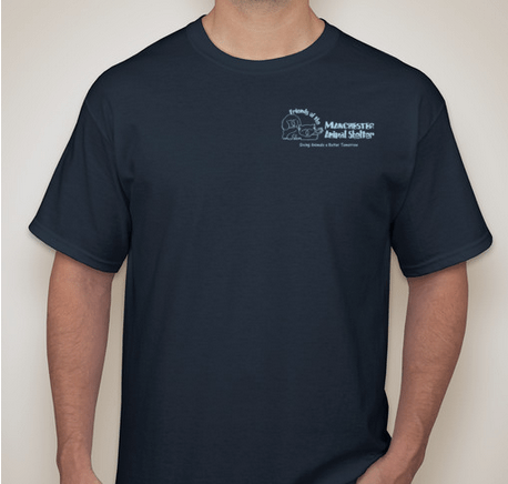 Order your Friends of Manchester Animal Shelter T-shirt today.