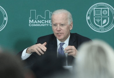 Vice President Joseph Biden talks free tuition and a well-prepared workforce at Manchester Community College.