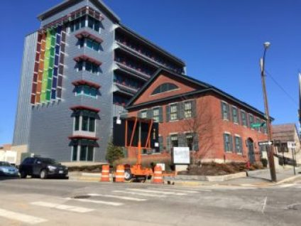 "Newest NHIA ""green"" dorms at the corner of Lowell and Chestnut streets."