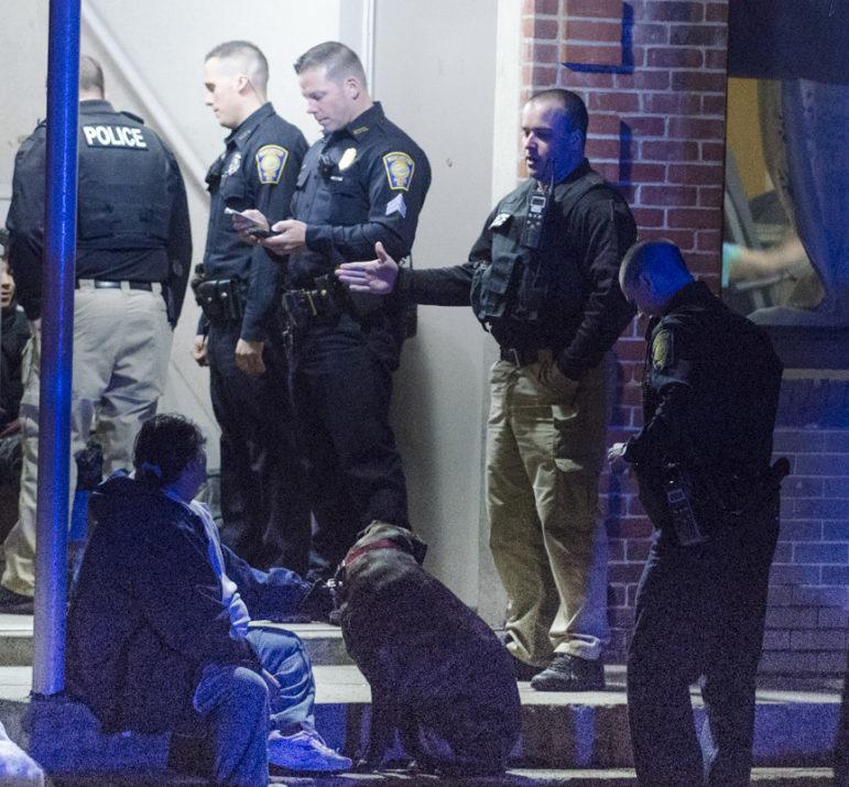 Scene of shooting on Kimball Street Wednesday night.