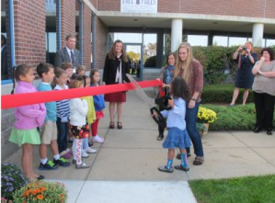 MIll Falls ribbon cutting in 2012.