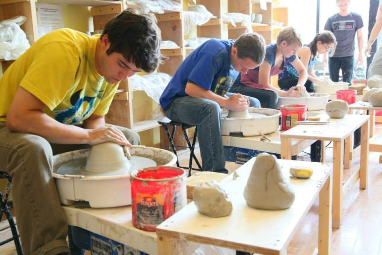 Clay Challenge, pitting students against clay at Studio 550.