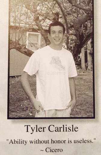 Tyler Carlisle from the 2012 CHS yearbook.