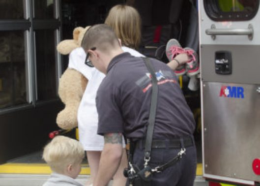 Children taken from scene of a suspected drug lab on Lake Avenue.