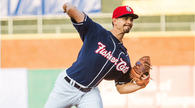 Cole got his first Double-A victory in the 4-3 win for the Fisher Cats.