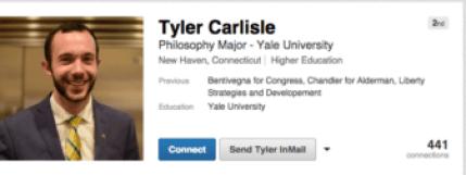 Tyler Carlisle's public Linked In profile.