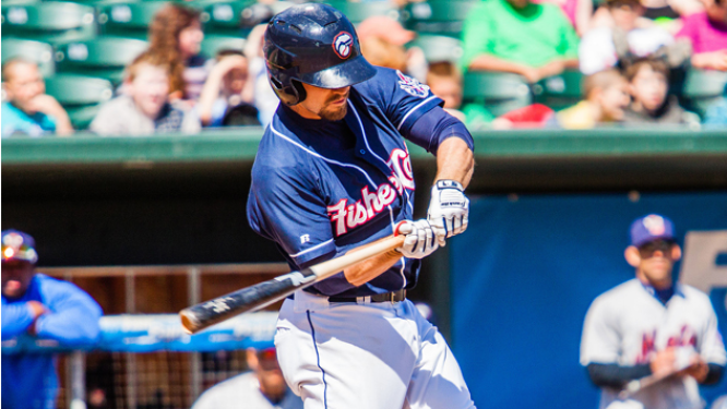 Jon Berti rapped four hits in the Fisher Cats offensive onslaught.