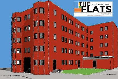 Rendering of The Flats @Hanover Commons.