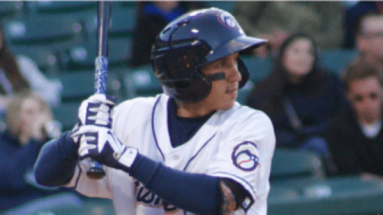 Ronald Torreyes' first Fisher Cats hit cleared the bases and pushed the Fisher Cats to a 6-3 win on Friday night.