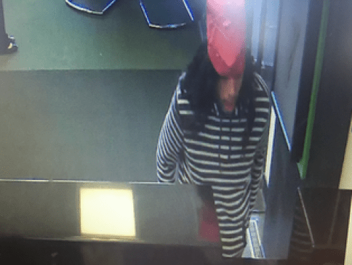 Surveillance photo of bank robber.