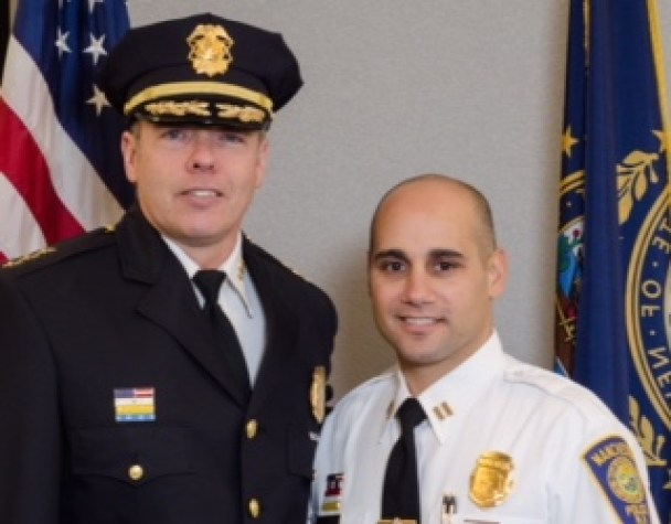 Chief Nick Willard, left, and Capt. Carlo Capano, who will be promoted to Assistant Chief.