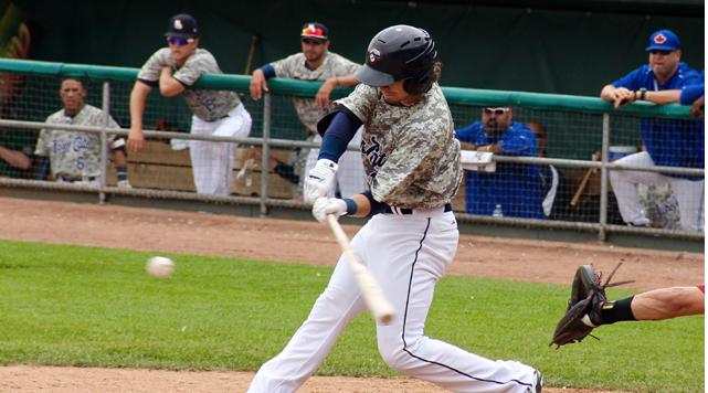 Shane Opitz drove home the lone run for New Hampshire on a second-inning triple.