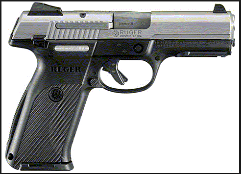 Ruger 9 mm handgun similar to the one reported stolen.