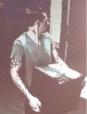Surveillance photo of alleged Subway robber.