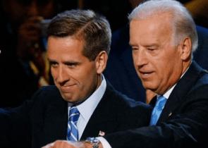 Beau Biden, left, and his dad Vice President Joe Biden.