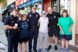 A group of young people requested photos with their favorite officers.