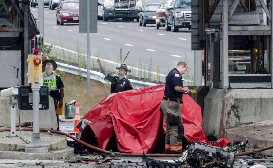 State Police at the scene of a fatal crash Aug. 20 in Merrimack.