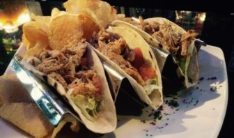 N'awlins Grille pulled chicken tacos