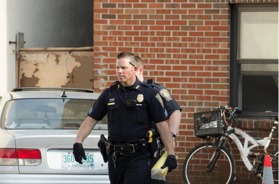 Scene of May 10, 2015 shooting on Lake Avenue.