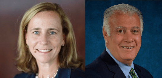 Joyce Craig and Ted Gatsas, Manchester's mayoral candidates.