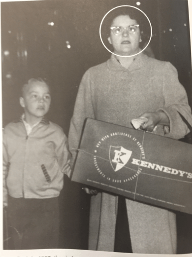 Back in 1957, the circle was squarely on Yvette Allard (accompanied by her son, Larry) which made her one of the first Monday Night Shopping winners.
