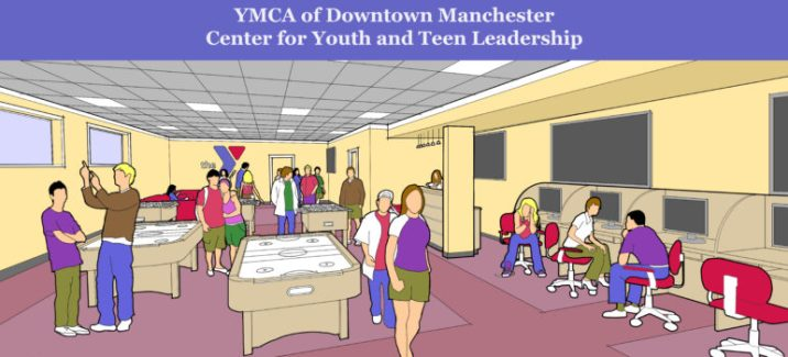 Conceptual drawing of the Center for Youth Teen Leadership.