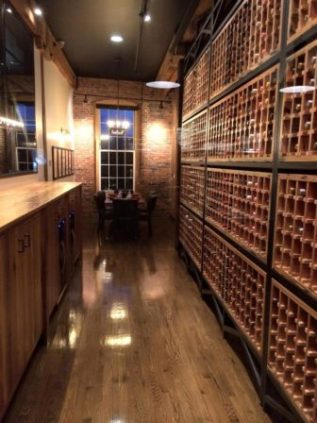 Private wine room at The Foundry