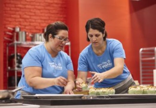 Chelsea Stoddard co-owner Queen City Cupcakes with her sister Amelia Shields competing on Sugar Showdown