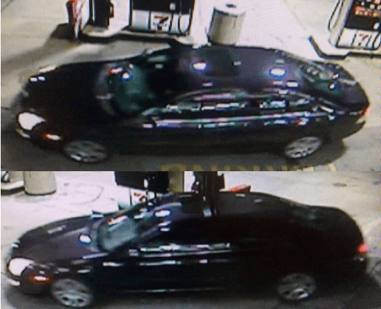 Possible car connected to the robbery at 7-Eleven early Friday morning.