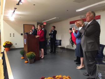 Standing ovation for U.S. Sen. Jeanne Shaheen, D-NH.