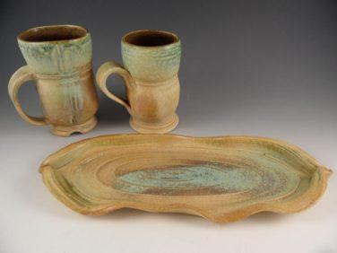 Mugs by Lori Rollason.