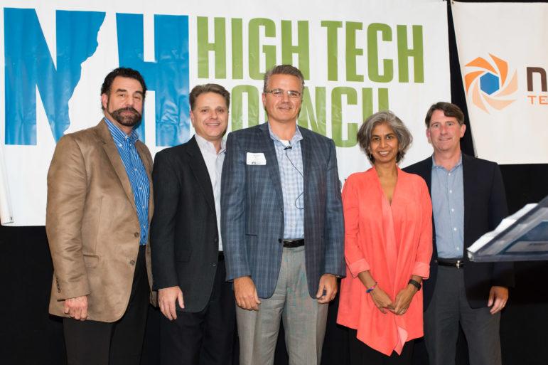 Plexxi Inc. of Nashua in the winner's circle at NHHTC annual awards.