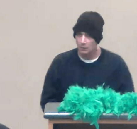 Suspected bank robber from TD Bank surveillance video.