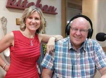 Carol Phillips with Ken Cail on The Pulse 107.7 FM.