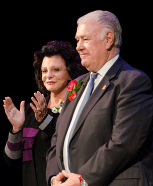 Mayor Ted Gatsas with his wife, Cassandra.